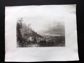 Bartlett America C1840 Print. Descent into the Valley of Wyoming, Pennsylvania